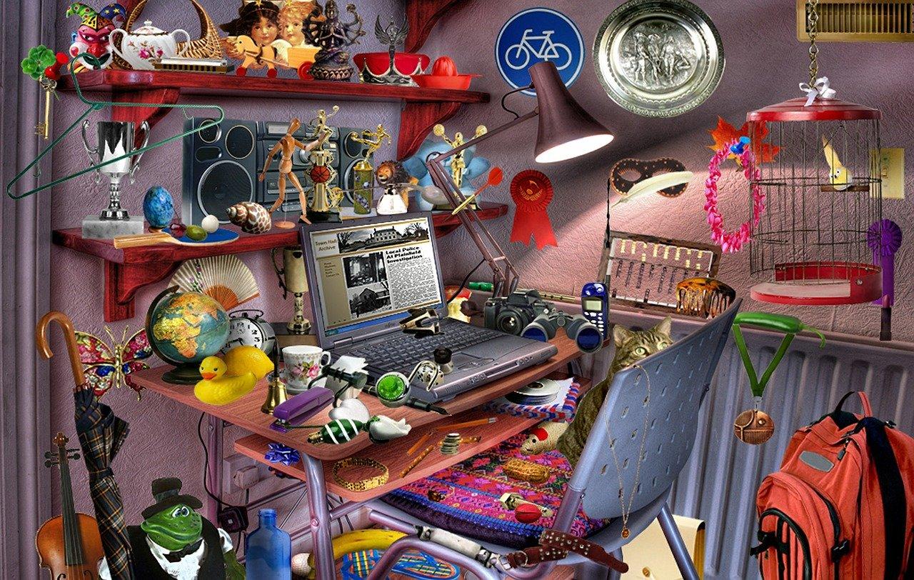 Картинка со множеством предметов